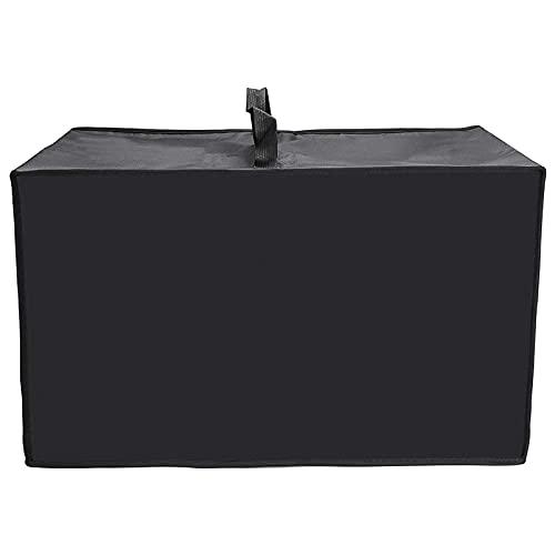 LTXDJ Cubierta de microondas, cubierta protectora de microondas de poliéster negro, 50 * 40 * 32 cm, con asa portátil, adecuada para microondas de cocina