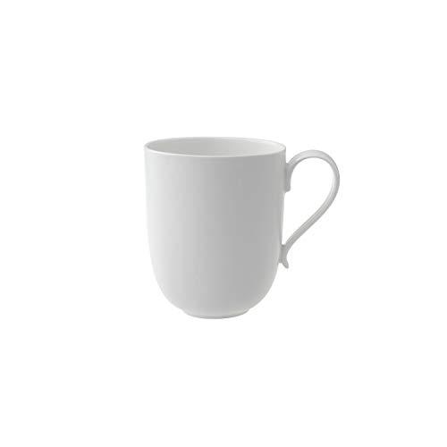 Villeroy und Boch New Cottage Basic Latte Macchiato-Becher, 480 ml, Höhe: 11 cm, Premium Porzellan, Weiß