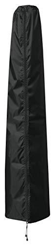 B.PRIME Schutzhülle für Sonnenschirme mit 350cm bis 450cm Durchmesser - Abdeckhaube H273cm x B45/60cm - Wasserdicht atmungsaktiv und UV-stabilisiert - Premium Abdeckung 210D Polyester Oxford Gewebe