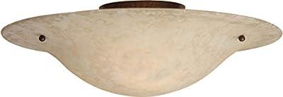 "Craftmade X1713-AG Toscana Italian Flush Mount Ceiling Lighting, 2-Light, 120 Watts, Aged Bronze (13""W x 6""H)"