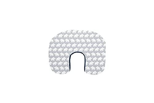 ULLENBOOM  Funda para almohadas de lactancia pequeñas (57x44 cm) Elefantes Azul Verde (Fabricada en UE) - Funda para dormir de lado, 100% algodón certificado ÖkoTex