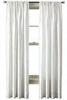 Royal Velvet Encore Rod-Pocket Back-Tab Panel Cool White 50x95