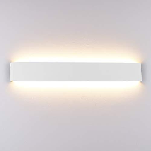 Klighten Wandleuchte LED Innen,16W,Moderne Wandbeleuchtung,51cm,Up Down Wandlampe,Warmweiß LED Innen Wandstrahler für Schlafzimmer, Wohnzimmer, Treppen und Badezimmer,Weiß