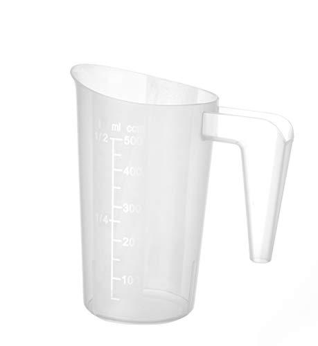 Hendi Messbecher, mit Skalierung, Stapelbar, Bruchsicher, 0,5L, ⌀95x(H)136mm, Polypropylen