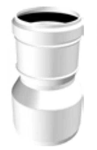 Tubo de chimenea de plástico PPS DN 60M - 50F adaptador de aumento de diámetro