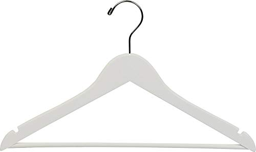 The Great American Hanger Company White Wooden Suit Clothes Hanger