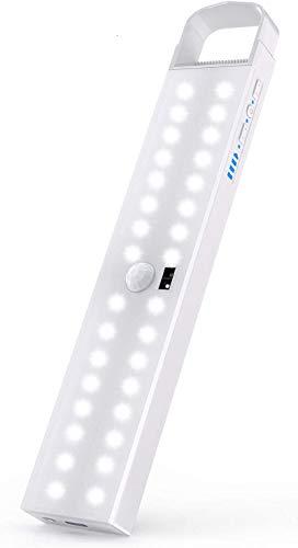 Luz Nocturna, Mejorar Brillo ajustable 32 LEDs Led Armario con Sensor de Movimiento Recargable 4 Modos con Cinta Adhesiva Magnética para Armario, Pasillo, Estantería, Escalera