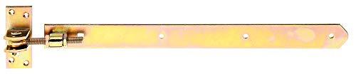 GAH-Alberts 318253 Ladenband | gerade, Abschluss abgerundet, verstellbar um 30 mm | galvanisch gelb verzinkt | 460 x 40 mm
