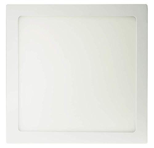 ECOBELLE® Plafonnier LED Carré 24 W, 2000 lm, Lumière Blanc Chaud 3000K, dimensions: 30 x 30 cm, LED Transformateur inclus (LED Driver included!!)