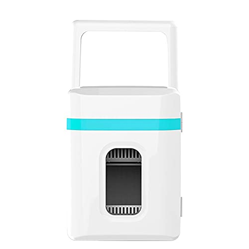 X&Z-XAOY Mini Nevera 10L Enfriador Y Calentador Portátil Compacto Y Silencioso Compatibilidad con Alimentación CA + CC Refrigerador De Coche para Casa/Coche (Color : Blue)