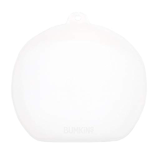 Bumkins Silicone Stretch Lid for 3-Section Grip Dish, Baby & Toddler Suction Plate, GD-Lid (SSL3-CLR)