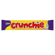 Cadbury UK Crunchie bars 40g x 48 sealed case Imported from UK