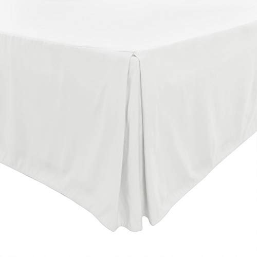 PiccoCasa - Mantovana giroletto plissettata, classica ed elegante, qualità da hotel, 35,5 cm