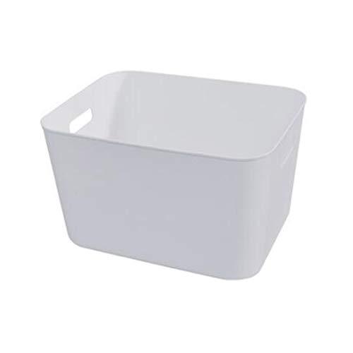 Hanpiyigzwl Cajas Almacenaje, Caja de almacenamiento de Sundries del hogar blanco puro, canasta de almacenamiento de bocadillos cosméticos, caja de almacenamiento, caja de almacenamiento de escritorio