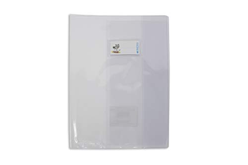 BALMAR 2000_Confezione 6 Coprimaxi A4 C28E Liscio Trasparente Pvc 140 My, Tasca Portanome, Neutro, art. PF02C28EGR601