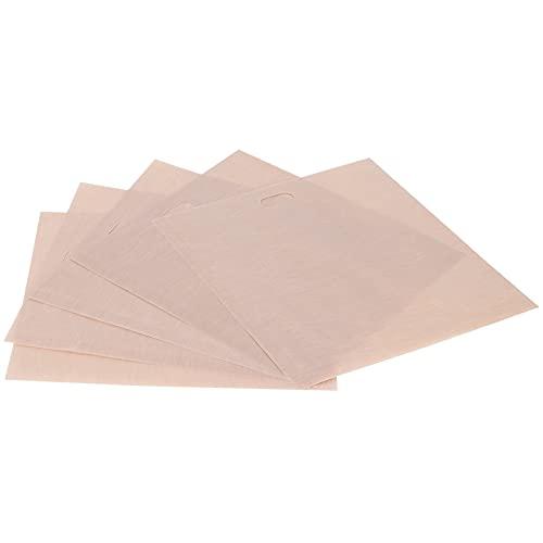Bolsas, bolsas de alta temperatura Resistencia al calor con 5 bolsas de barbacoa para una tostadora, microondas, horno o parrilla para la mayoría de las personas(17 * 19CM 5 paquetes)