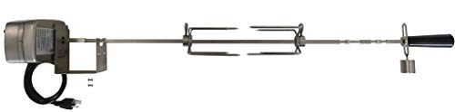OneGrill 3WSS40 Stainless Steel Grill Rotisserie Kit (Compatible with Weber 300 Series 3 Burner Genesis/Genesis II/Spirit/Spirit II) W/ 13 Watt Electric Motor; 3/8 Inch Square Spit Rod
