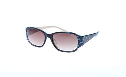 Guess GU7436 89F -56 -17 -135 Guess zonnebril GU7436 89F -56 -17 -135 ovale zonnebril 56, blauw