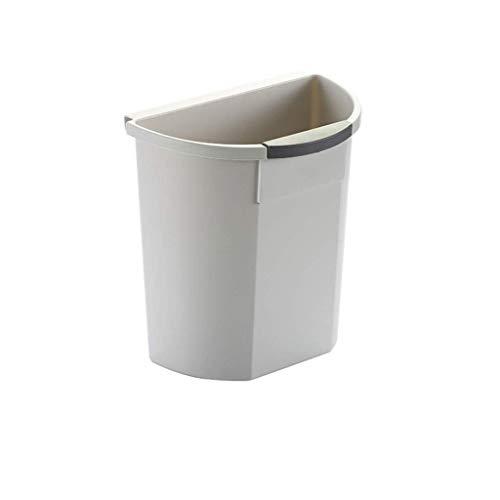 LZZB Mülleimer Combo Set Abfall Papierkorb Küchenmüll hängen Mülleimer Kunststoff Mülleimer Küche Büro Müll Vorratsbehälter Papierkorb (Farbe: Grau)