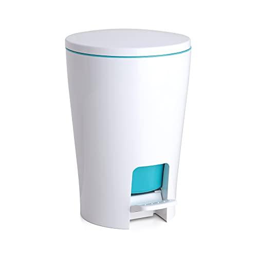 Tatay Papelera Baño con Pedal Diabolo, 5L de Capacidad, de Polipropileno, Interior Extraíble, Libre de BPA, Color Turquesa, Medidas 19 x 21 x 28.2 cm