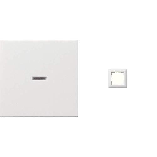 Gira Wippe für Kontrollschalter ST55 reinweiß-seidenmatt, 029027 & Rahmen 1-fach ST55, reinweiß-seidenmatt, 021104