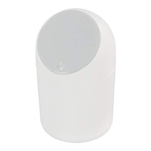 Callyne Papelera pequeña de plástico de 2 L, con tapa gris