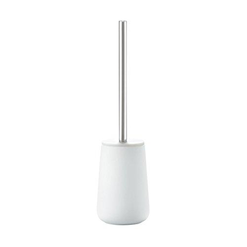 Zone Denmark, Nova WC-Bürste/Toilettenbürste/WC-Garnitur, Porzellan mit Soft Touch-Beschichtung, Stahl, weiß