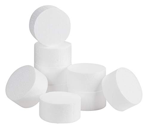 Foam Circles, Arts and Crafts Supplies (4 x 4 x 2 in, 9-Pack)