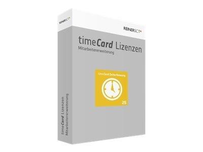 REINERSCT timeCard 6 Zeiterfassung Erweiterungslizenz 25 z. Zeiterf. v. weiteren 25 Mitarbeitern ohne Chipkarte oder Transponder