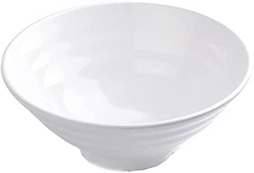 dh-4 Soup Bowls Noodle Ramen Bowls Set Serving Bowls for Pasta Salad Curry Breakfast Bowl 10-Piece Set,White,17.7cm