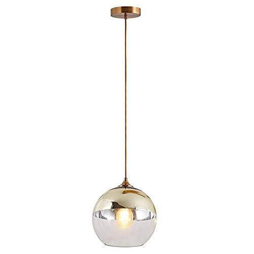 WEM Lámpara de araña decorativa novedosa, luces colgantes simples y modernas con pantalla de bola de cristal, accesorios de iluminación para colgar en el techo de la isla de cocina, kits de lámpara d