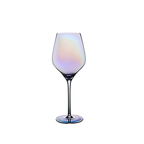 YUDIZWS Copas de Vino de Cristal Iridiscente, Copas de Vino Grande de 607 ml, hogar, restaurantes y Fiestas,3