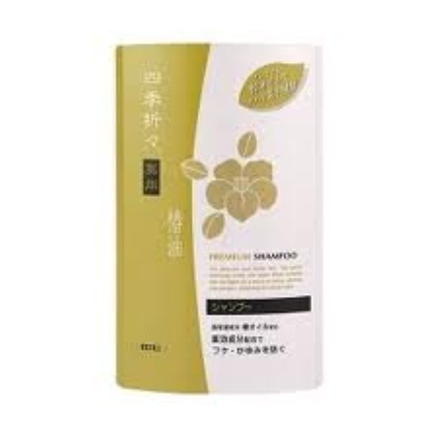 有名人文化災害熊野油脂 四季折々 薬用椿油シャンプー つめかえ用 400ml×24点セット (4513574011823)