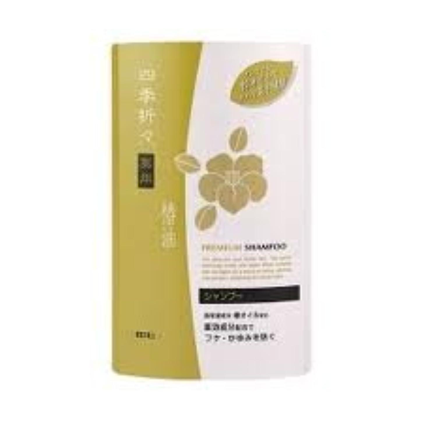 あいにく賠償悪意のある熊野油脂 四季折々 薬用椿油シャンプー つめかえ用 400ml×24点セット (4513574011823)
