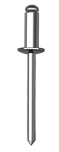 allfa 710004016 Blindniete, Alu/Stahl, 4 x 16 mm, 500 Stück