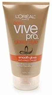 L'Oreal Paris Vive Pro Glossy Style Smooth Gloss Anti-Frizz Cream, 5-Fluid Ounce