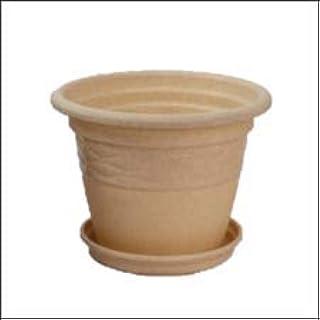 "EVERGREEN PLANTS Combo of 10 U.V Protected Plastic Pot Florina (Sandstone, 16"")"