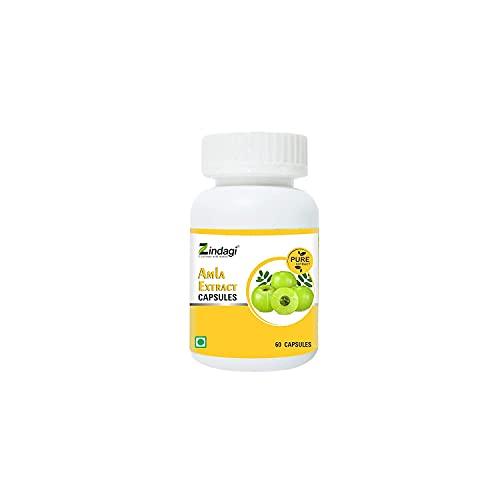 Jexmon Zindagi Amla Extract Capsule - Immunity Booster - Natural Amla Fruit Extract Powder 60 Caps