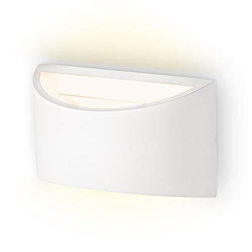 B.K.Licht I Wandleuchte G9 Fassung max. 40W I 1-flammige Wandlampe I Wandbeleuchtung I Wandstrahler I Für Innen I DIY Gipsleuchte I 20x12cm (LxB) I ohne Leuchtmittel