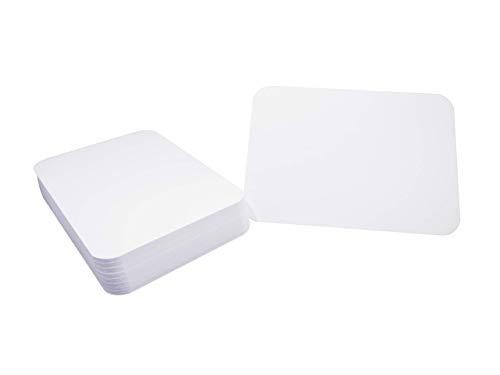 DIN A6 Postkarten Karteikarten Set Blanko mit Umschlägen und runden Ecken wählbar (weiss matt rund 350g/m², 25 Karten)