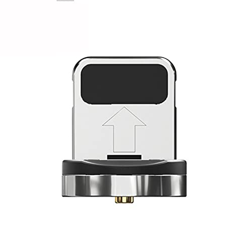 Girar el Cable magnético de Carga rápida Micro Tipo C Cable de Cable C para la Carga del imán USB C Cable del teléfono (Color : Only iOS Plug, Length : 2M)