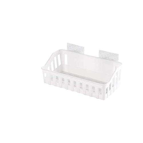SCDZS Plástico de succión baño Carrito de la Ducha de la Cesta por champú, acondicionador, jabón, cremas, máquinas de Afeitar, Loofahs (Color : B)