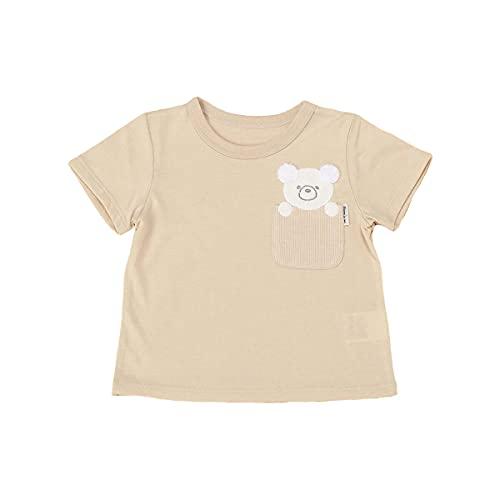 (コムサ イズム) COMME CA ISM 動物アップリケ付き 半袖Tシャツ(80・90サイズ) 23-42TT06-201 90cm ベージュ