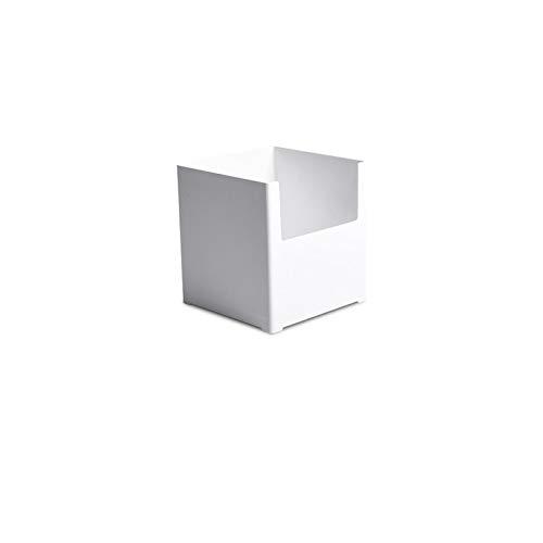 Honton Kosmetikbox, Aufbewahrungsbox, Organizer, Korb, Schublade, Lagerregal, überlagert und kombiniert, für Küche, Bad, Schlafzimmer, 14 x 14 x 15 cm, weiß (breite Trompete)
