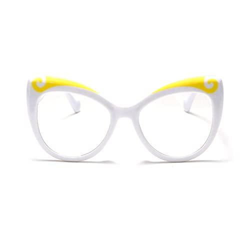 ShSnnwrl Único Gafas de Sol Sunglasses Moda Ojo De Gato para Mujer, Montura De Gafas, Lentes Transparentes, Montura De Anteojos Ó