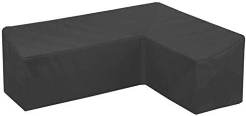 STZYY Fundas para Muebles de jardín, Funda Impermeable para sofá de Esquina para Exteriores en Forma de L, a Prueba de Polvo, Resistente a la Intemperie UV, Funda de Lluvia para sofá Tipo V, Negro