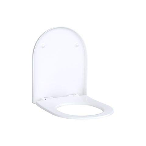 Keramag ACANTO WC-Sitz Slim mit Deckel, Wrap over, antibakteriell, mit Absenkautomatik weiß-alpin