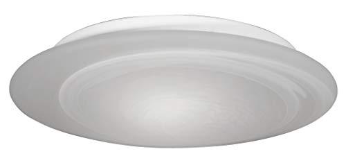 Honsel Leuchten 84713 - Lámpara de techo, níquel mate y cristal blanco