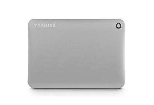 Toshiba Canvio Connect II 2TB Portable Hard Drive, Silver (HDTC820XC3C1)