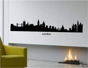 Online Design City Scape Wall Art London Sticker Vinyl...